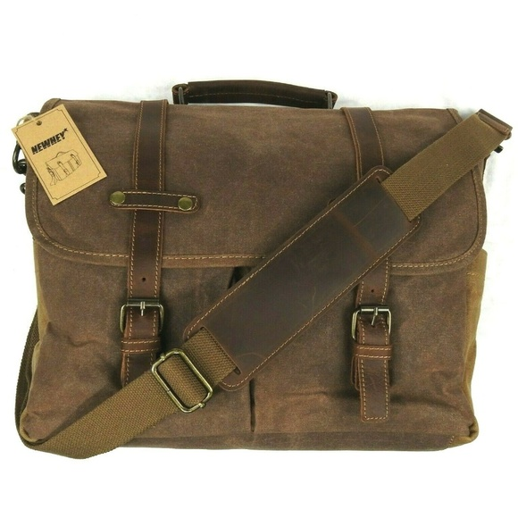 433b1c9cb42 Newhey Bags   Messenger Bag Canvas Leather Bag   Poshmark